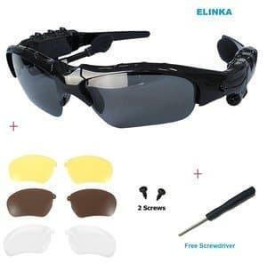 Elinka Wireless Music Bluetooth Sunglasses Headset