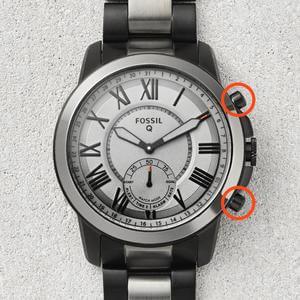Fossil Q Crewmaster Gen 2 Hybrid Silver Stainless Steel Smartwatch