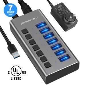 ACASIS 7 Port Powered USB Hub
