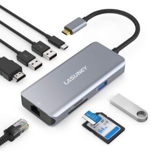 Lasuney 8 in 1 USB Hub