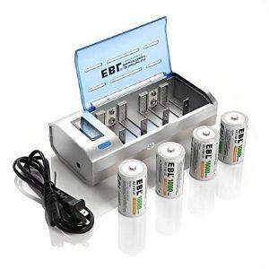 EBL D Cell Rechargeable Batteries