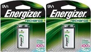 Energizer Rechargeable 9 Volt Batteries