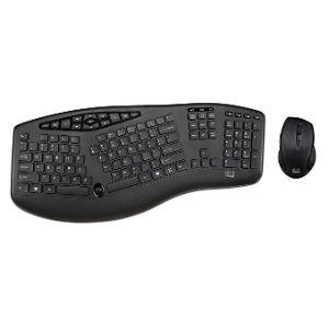 Adesso Truform Media 1600 Wireless Ergonomic Keyboard