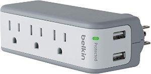 Belkin BST300 3-Outlet USB Surge Protector