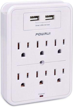 POWRUI USB Wall Surge Protector