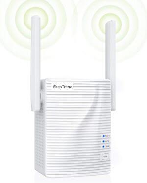 BrosTrend 1200Mbps WiFi Extender Repeater Range Extender