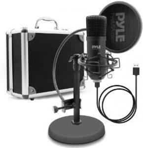 Pyle USB Microphone Podcast Recording Kit